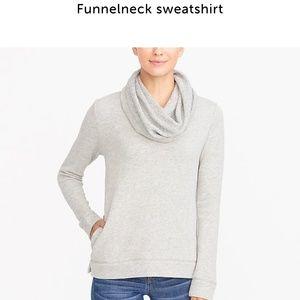 J Crew Factory funnelneck sweatshirt